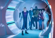 Doctor Who – Series 11 – Ep 5 – The Tsuranga Conundrum - The Doctor (JODIE WHITTAKER), Graham (BRADLEY WALSH), Ryan (TOSIN COLE), Yaz (MANDIP GILL), Mabil (LOIS CHIMIMBA) - (c) BBC Studios