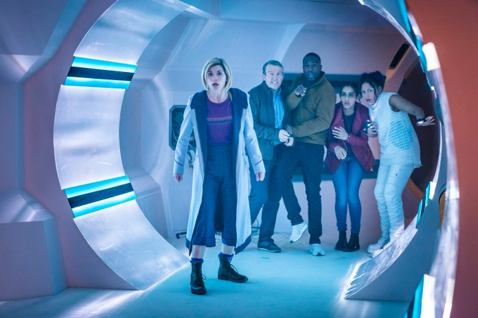 Doctor Who – Series 11 – Ep 5 – The Tsuranga Conundrum - The Doctor (JODIE WHITTAKER), Graham (BRADLEY WALSH), Ryan (TOSIN COLE), Yaz (MANDIP GILL), Mabil (LOIS CHIMIMBA) - (c) BBC Studios