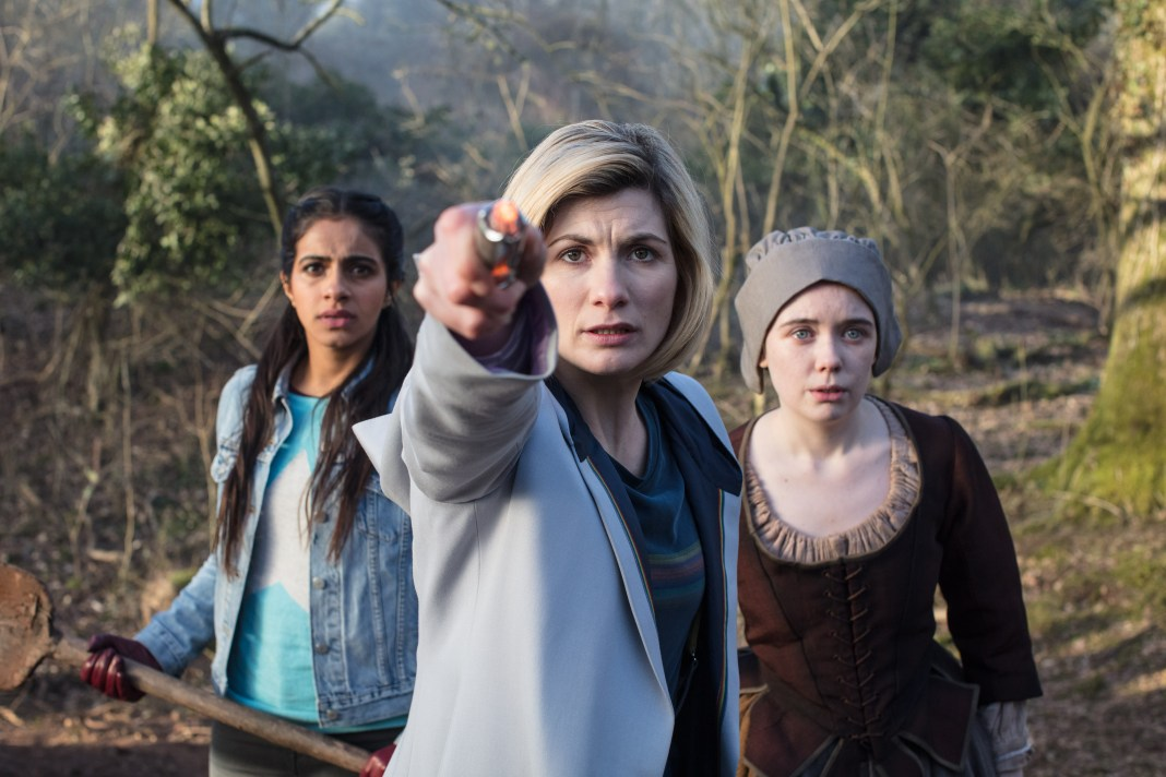 Doctor Who Series 11 - Episode 8 - The Witchfioders - Yaz (MANDIP GILL), The Doctor (JODIE WHITTAKER), Willa Twiston (TILLY STEELE)