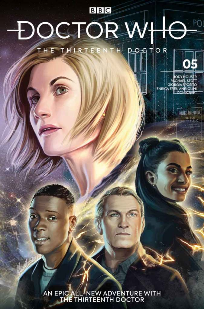 Doctor Who: The Thirteenth Doctor #5. Cover C by Claudia Iannicielo (c) BBC Studios/Titan Comics