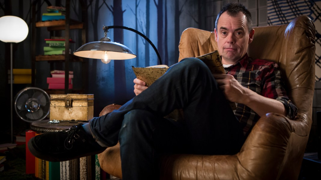 Kevin Eldon was one of the readers of Dave's Crackanory series (c) Dave