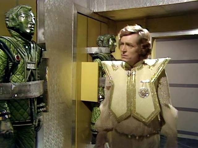 Poul (David Collings) suffers from severe robophobia. So it's not his day when the Voc robots rebel and begin murdering everyone in The Robots of Death (c) BBC Studios
