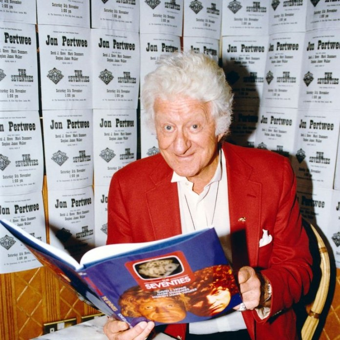 Jon Pertwee at Forbidden Planet in 1994 (c) Forbidden Planet