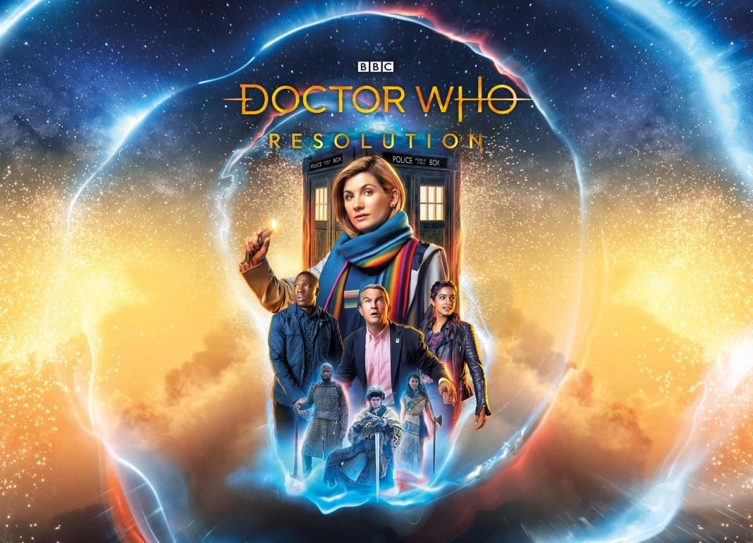 Doctor Who - Resolution - Ryan (TOSIN COLE), Graham (BRADLEY WALSH), Yaz (MANDIP GILL), Custodian, The Doctor (JODIE WHITTAKER) - (C) BBC/ BBC Studios - Photographer: Henrick Knudsen