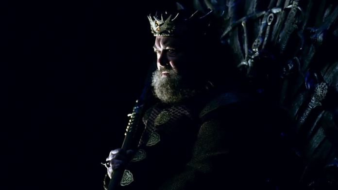 When epic blockbuster Game of Thrones began, it was Mark Addy's King Robert who sat upon the iconic Iron Throne (c) HBO