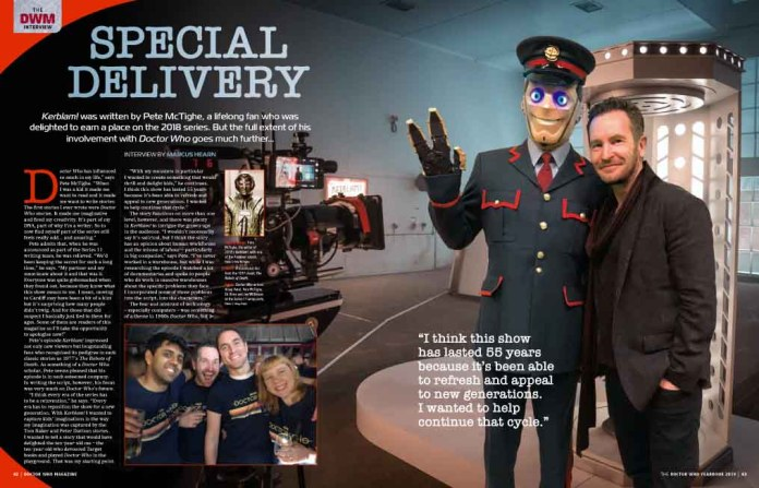 Doctor Who Magazine 2019 Yearbook - Pete McTighe Interview