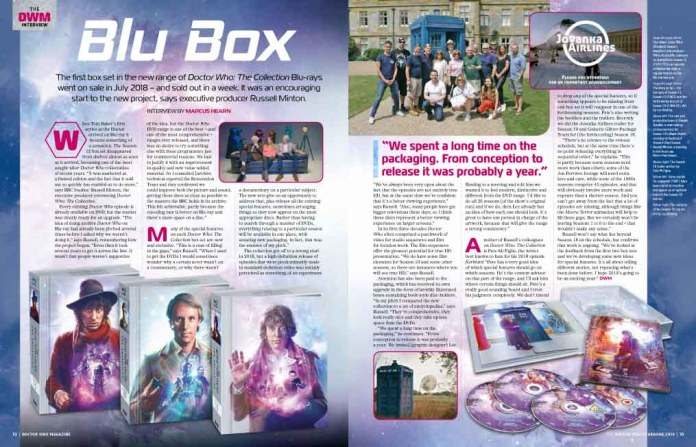 Doctor Who Magazine 2019 Yearbook - Doctor Who: The Collection Blu-Rays Article Excerpt