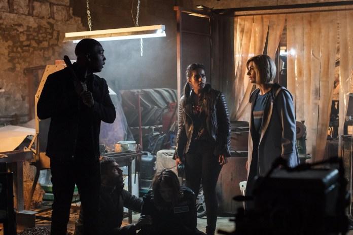 Doctor Who - Resolution - Ryan (TOSIN COLE), Yaz (MANDIP GILL), The Doctor (JODIE WHITTAKER) - (C) BBC / BBC Studios - Photographer: Sophie Mutevelian