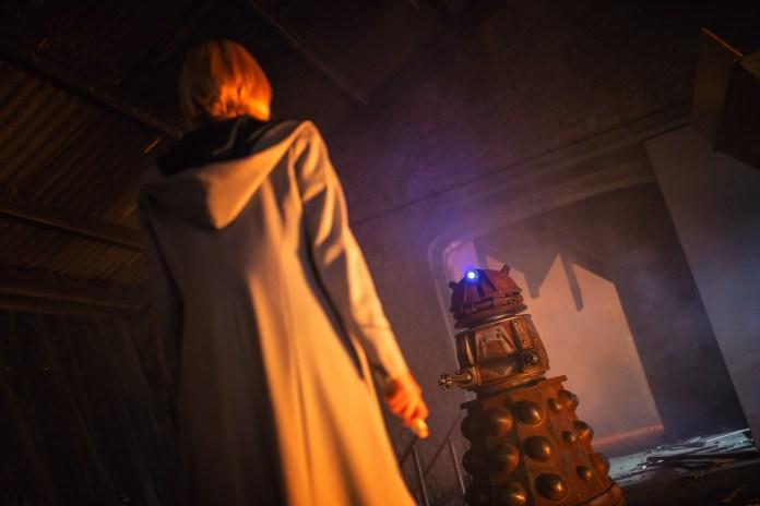 Doctor Who - Resolution - The Doctor (JODIE WHITTAKER) & Dalek - (C) BBC / BBC Studios - Photographer: James Pardon