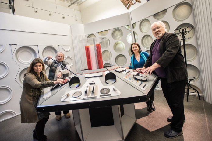 The TARDIS replica at a previous Science of the Time Lords event (note that Sophie Aldred and Nicola Bryant are not on this year's guest list (c) National Space Centre
