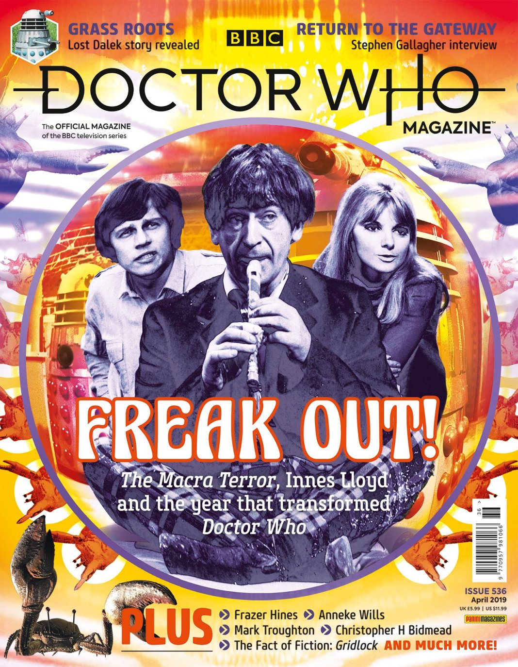 The cover to Doctor Who Magazine Issue 536 (c) Panini