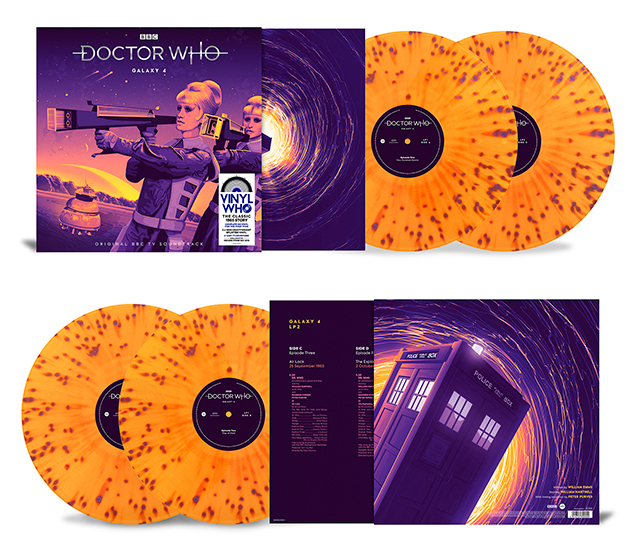 The cover and vinyl records in the exclusive Galaxy 4 release for Record Store Day (c) Demon Music Group