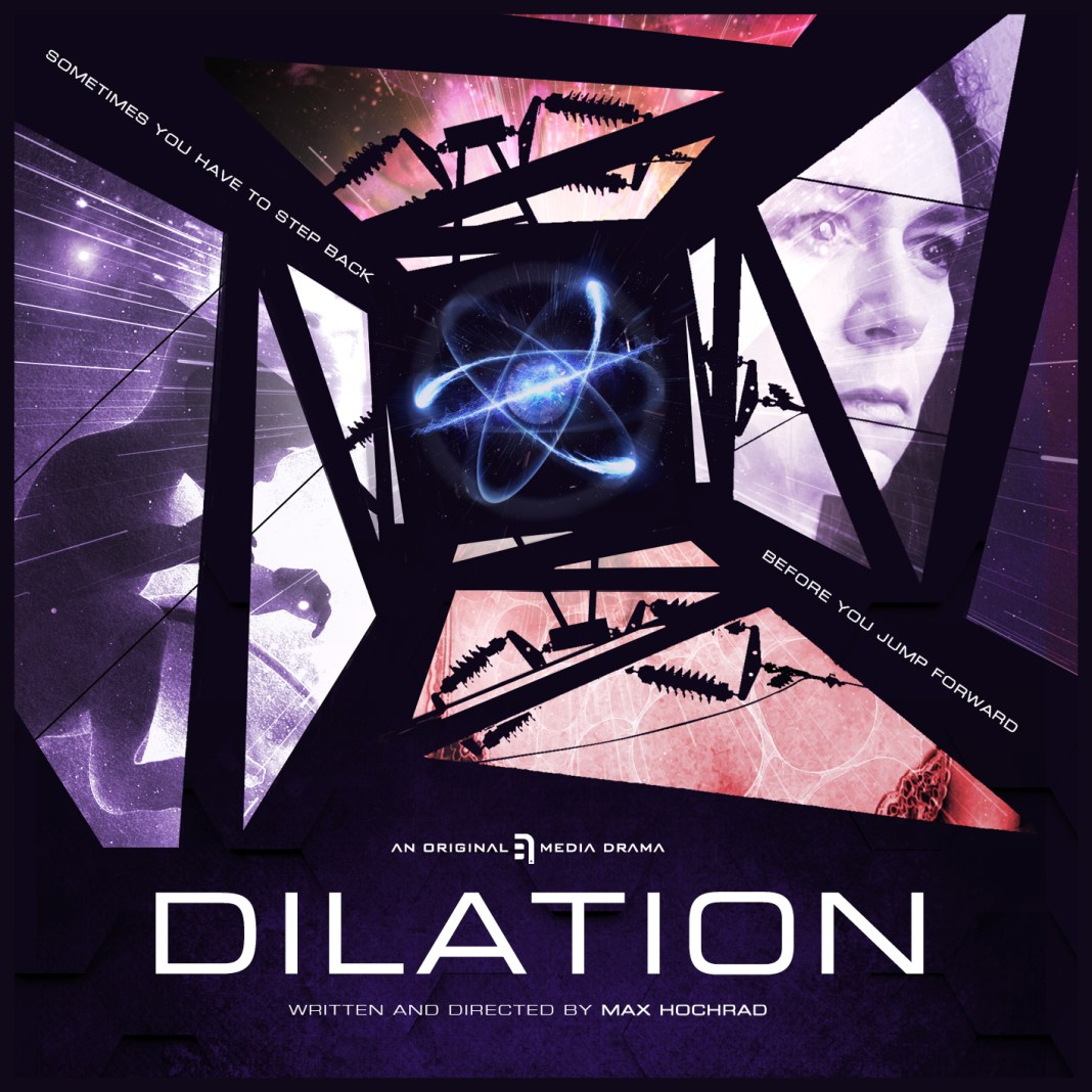The cover of Dilation, the SF thriller from B7 Media and Par-Sec Productions (c) B7 Media/Par-Sec Productions