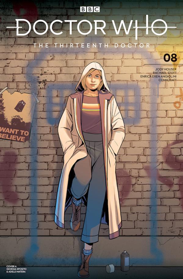 Titan Comics – Doctor Who: The Thirteenth Doctor #8 – Cover A: Giorgia Sposito and Adele Matera