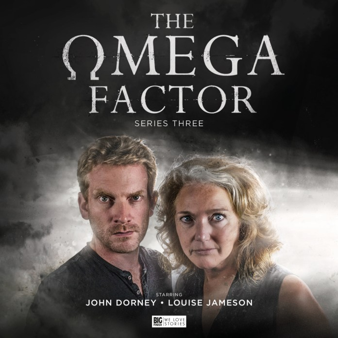 John Dorney (Adam Crane) and Louise Jameson (Dr. Anne Reynolds) take up the baton in the latest series of Big Finish's revival of The Omega Factor (c) Big Finish Productions