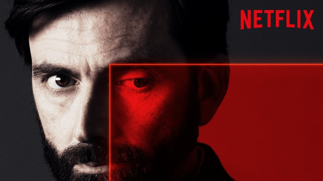 Former Doctor Who David Tennant stars as a suspect in new Netflix crime drama Criminal (c) Netflix