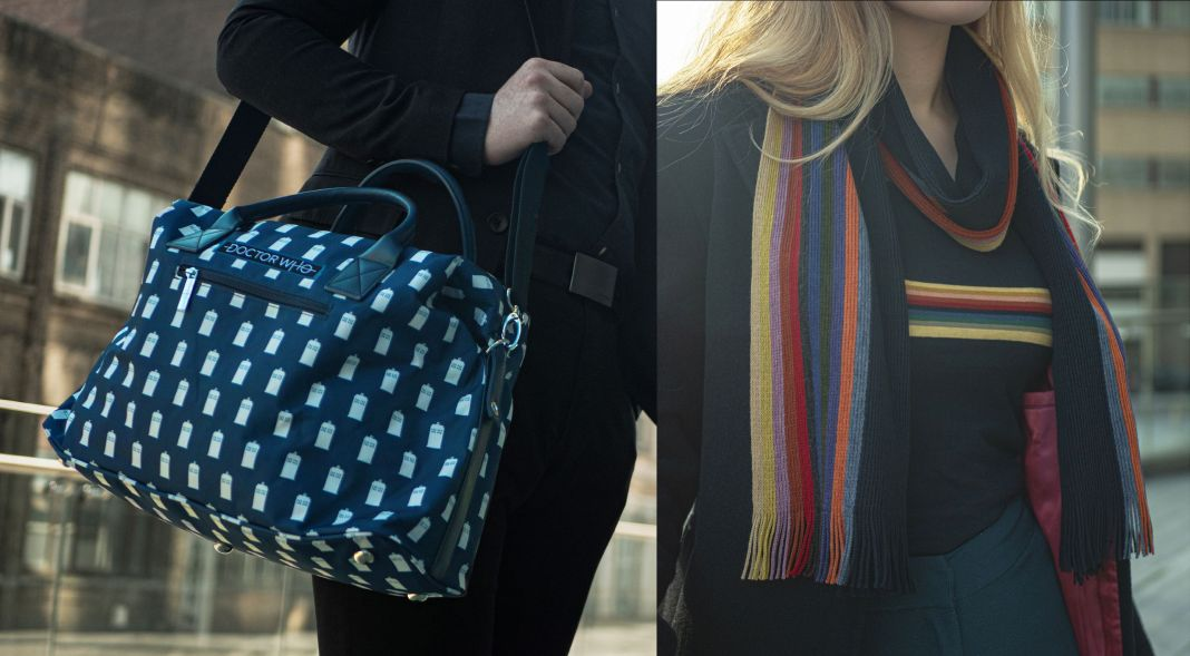 The new Laptop Bag and Thirteenth Doctor Scarf from Lovarzi/Veroli (c) Lovarzi/Veroli