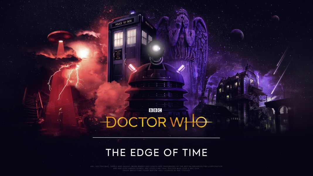 Doctor Who: The Edge of Time. Poster for the VR Game from Playstack and Maze Theory (c) BBC Studios/Playstack