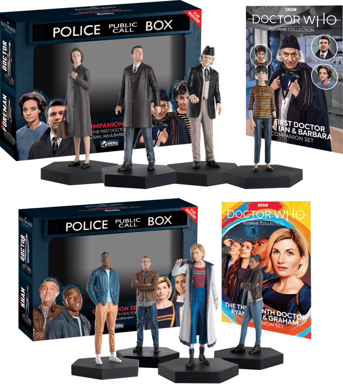 Hero Collector's new Doctor Who Companion figurine sets (c) Eaglemoss