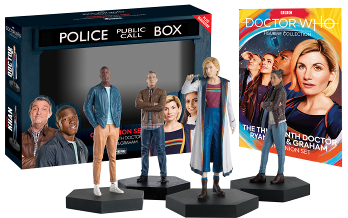 Hero Collector's new Doctor Who Thirteenth Doctor Companion figurine sets (c) Eaglemoss