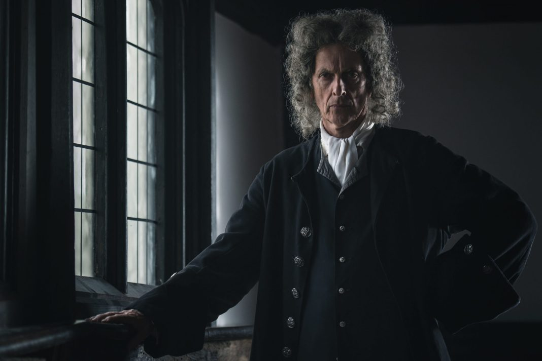 Doctor Who's Peter Capaldi as Dolben, prosecuting a most unusual case in Martin's Close, the new Ghost Story for Christmas - (C) Can Do Productions with Adorable Media - Photographer: Michael Carlo