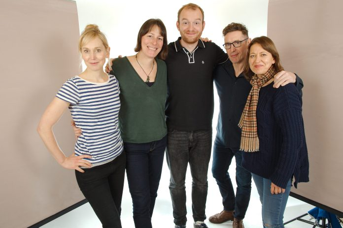 The cast of Doctor Who: Stranded (c) Big Finish Productions