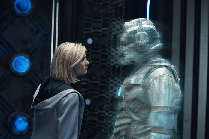 Ashad (PATRICK O'KANE), The Doctor (JODIE WHITTAKER) in Ascension of the Cybermen- (C) BBC - Photographer: Ben Blackall Doctor Who Series 12