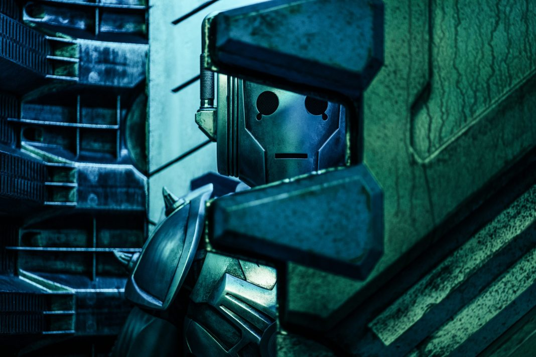 A Cyberman awakens aboard the Cyber transport ship in Ascension of the Cybermen- (C) BBC - Photographer: Ben Blackall Series 12 Doctor Who