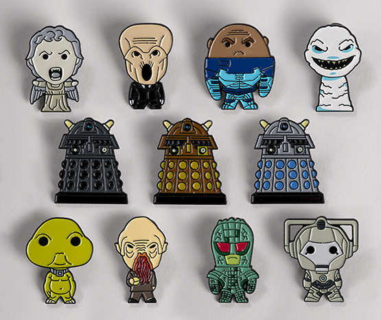 New Doctor Who Monster Pins and More from Hero Collector