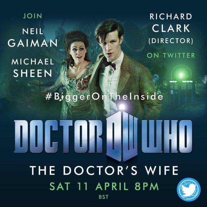 The #BiggerOnTheInside live tweet on Saturday Lockdown Live Tweet Doctor's Wife Eleventh Doctor Doctor Who
