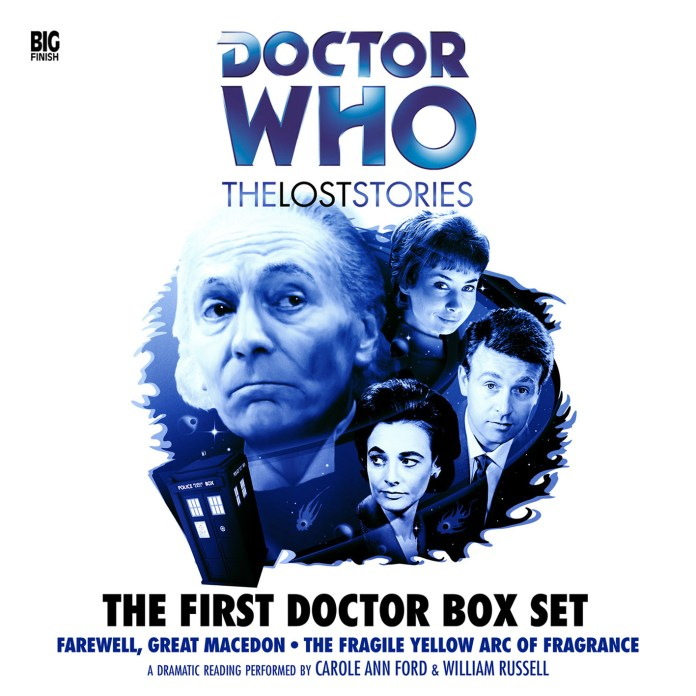 Doctor Who - The Lost Stories: The First Doctor. Cover by Alex Mallinson (c) Big Finish Productions Ian Chesterton Barbara Wright Susan Foreman
