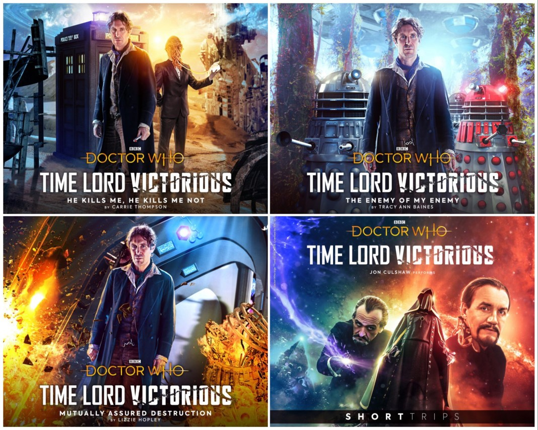 The four other Big Finish releases in the Time Lord Victorious strand (c) Big Finish Productions Doctor Who Eighth Doctor Paul McGann Daleks Master