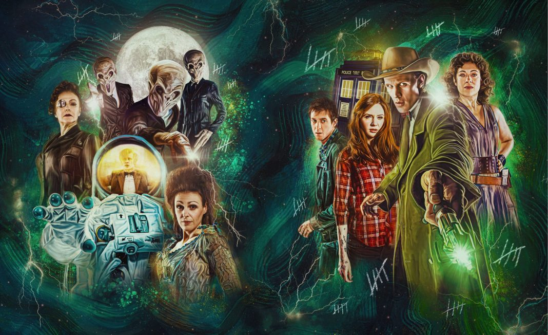 Doctor Who Series Six Steelbook cover art by Sophie Cowdrey (c) BBC Studios