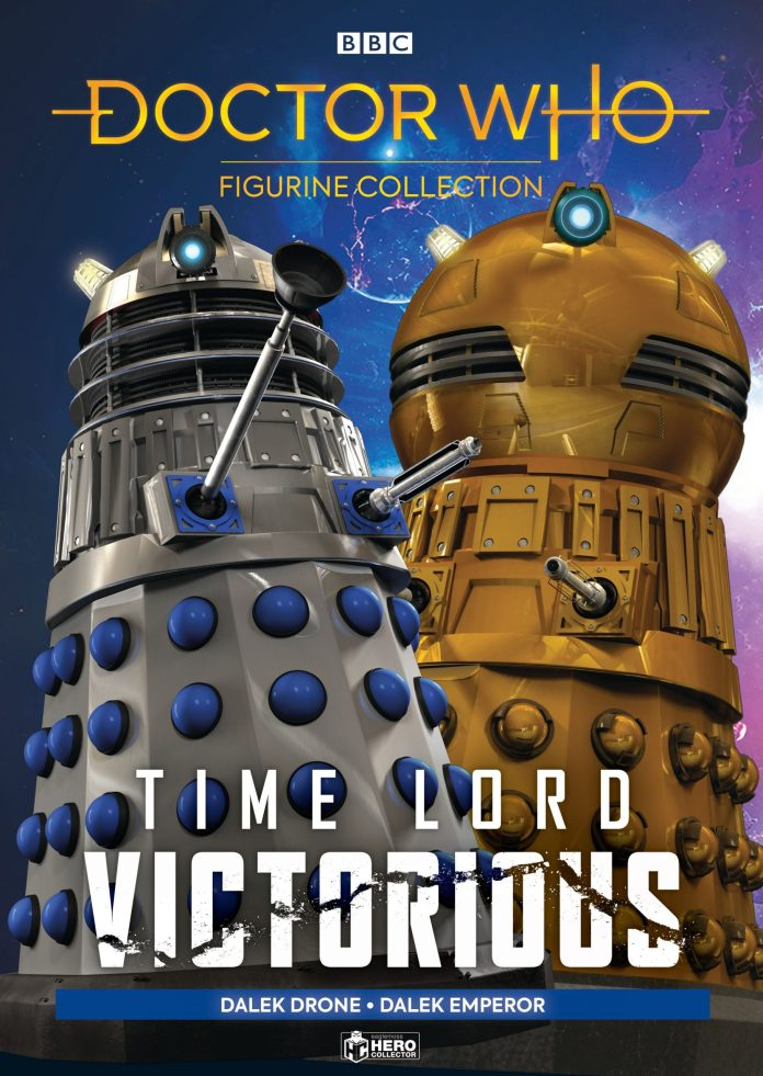 The Time Lord Victorious Figurine Set #1 (c) Hero Collector Doctor Who Dalek Golden Emperor Dalek Drone 60s