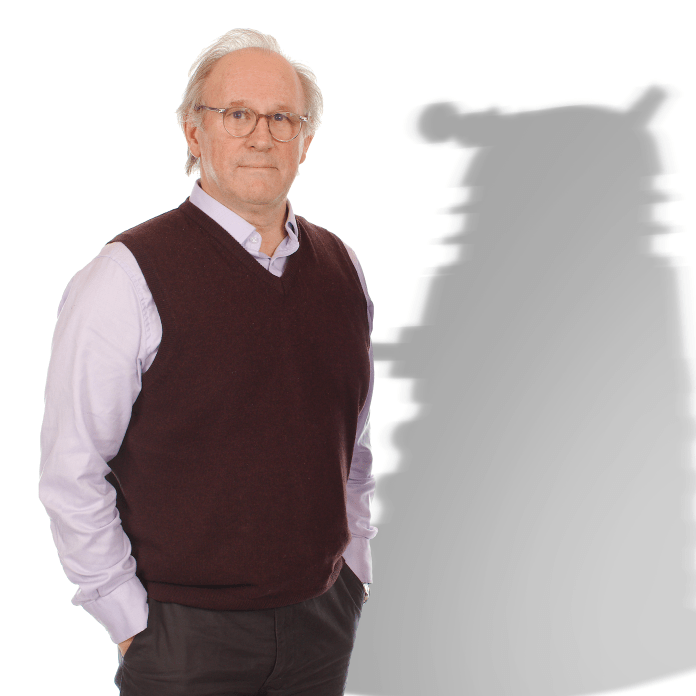 Doctor Who: Shadow of the Daleks - Peter Davison and Dalek shadow (c) Big Finish Fifth Doctor Time War