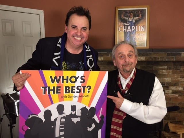 Sandro Monetti and Sylvester McCoy