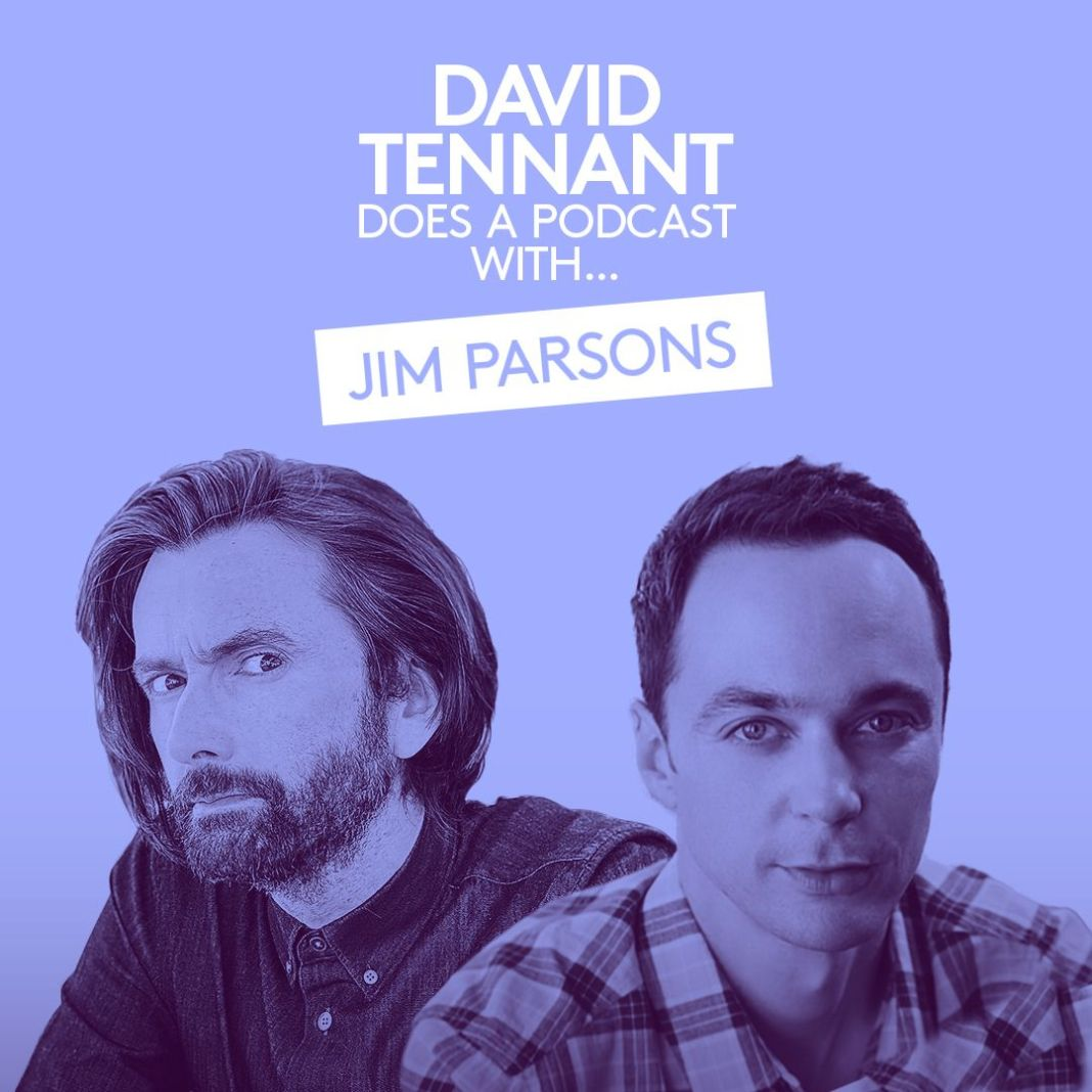 David Tennant Does a Podcast with... Jim Parsons (c) Somethin' Else and No Mystery Doctor Who Tenth Doctor Big Bang Theory Sheldon Cooper