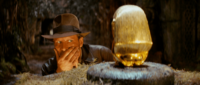 Indiana Jones considers his next move while wearing a Herbert Johnson Poet Fedora (c) Lucasfilm