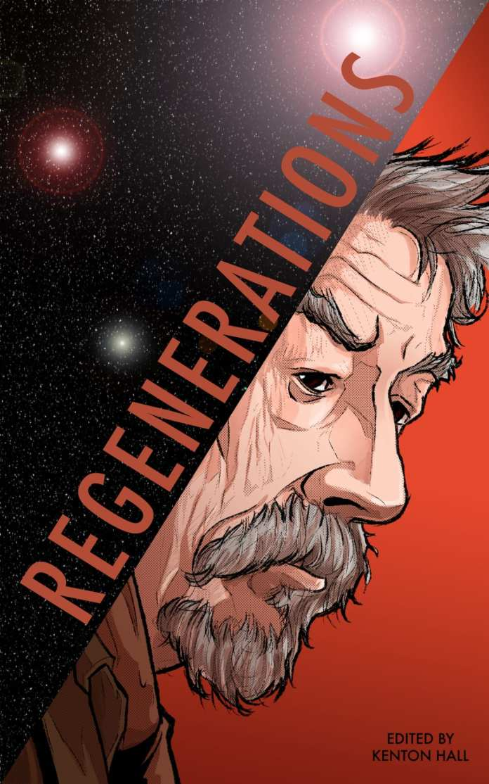 The cover to Regenerations. Art by Steven Horry. (c) Chinbeard Books Doctor Who War Doctor Time War Invest in ME Research