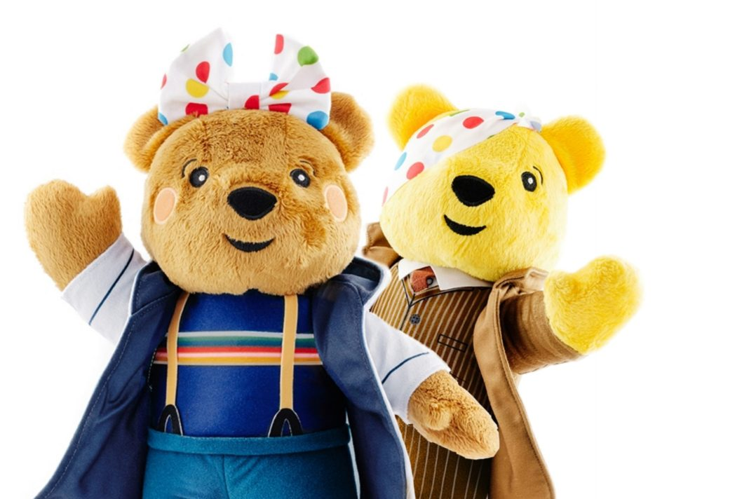 Blush and Pudsey have their costumes for this year's Children in Need! Order your CiN Doctor Who Bears today! (c) BBC Children In Need Doctor Who Thirteenth Doctor Tenth Doctor