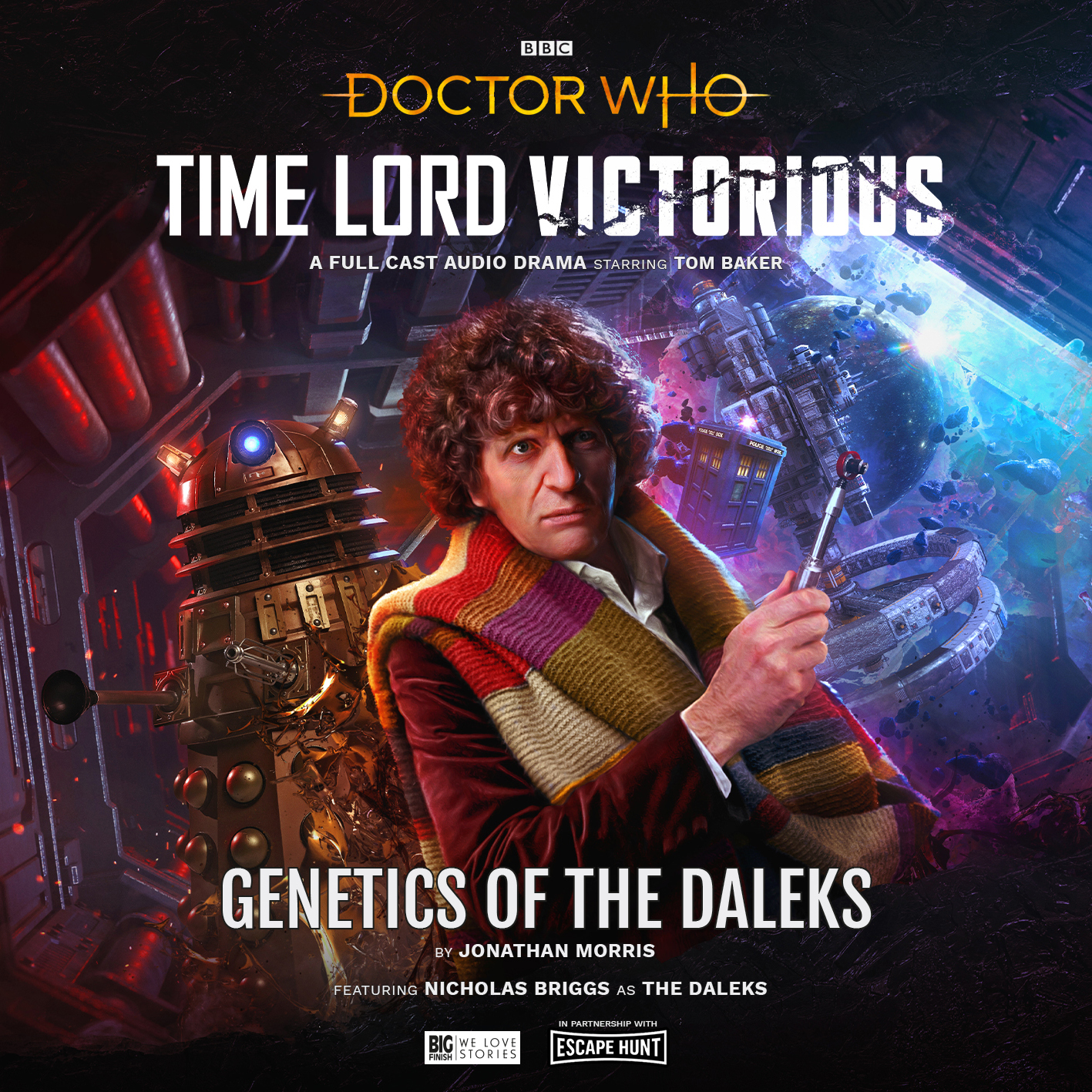 Doctor Who: Time Lord Victorious - Genetics of the Daleks, starring Tom Baker (c) Big Finish Productions Fourth Doctor Starship Future Dalek Time Squad A Dalek Awakens Escape Hunt Escape Room