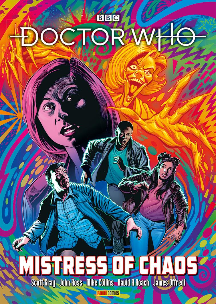The Mistress of Chaos collection includes the Thirteenth Doctor's DWM debut (c) Panini Doctor Who Magazine Yaz Khan Graham O'Brien Ryan Sinclair John Ross Scott Gray Warmonger