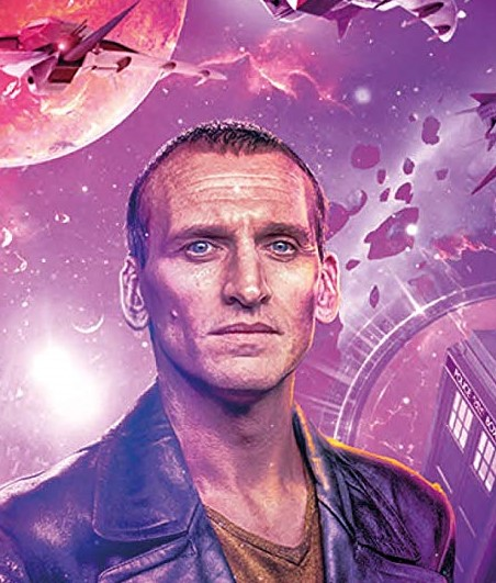 The Ninth Doctor finds himself in the Dark Times facing the Great Vampires in Time Lord Victorious. Art by Lee Binding. (c) BBC Studios Doctor Who Christopher Eccleston