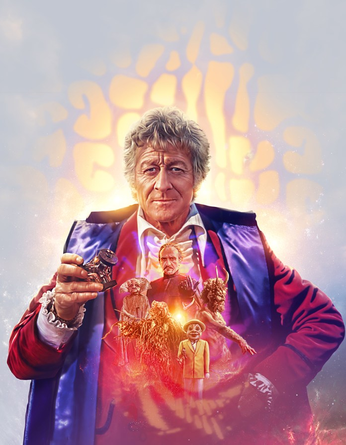 Doctor Who - Series 8 - The Collection Third Doctor Jon Pertwee Jo Grant UNIT Master Autons Daemons Dæmons Mind of Evil Claws of Axos Terror of the Autons Colony in Space Blu-ray (c) BBC Studios Lee Binding