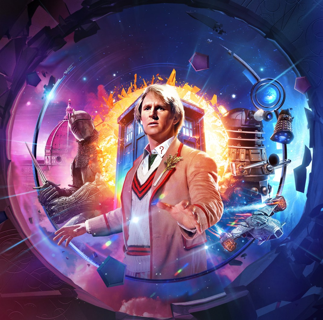 Doctor Who: Shadow of the Daleks 1. Cover art by Simon Holub (c) Big Finish Productions Fifth Doctor Time War Peter Davison