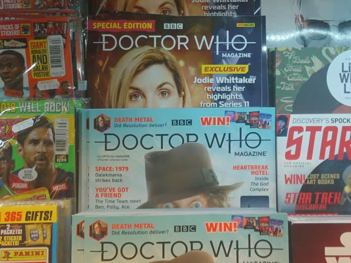 Keeping an eye out for the new Doctor Who Magazine is a little easier these days (c) Blogtor Who