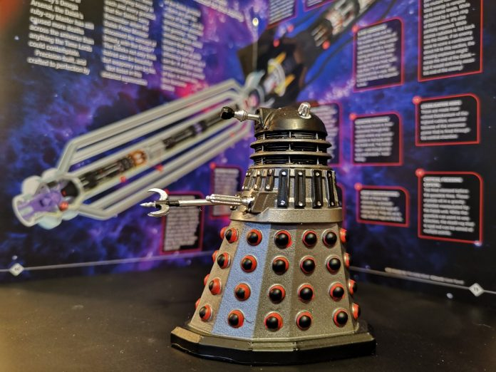 The Dalek Executioner, whose Varga thorn tipped claw marks it out as a particularly vindictive Dalek c) Blogtor Who Doctor Who Time Lord Victorious Hero Collector Eaglemoss Figurines