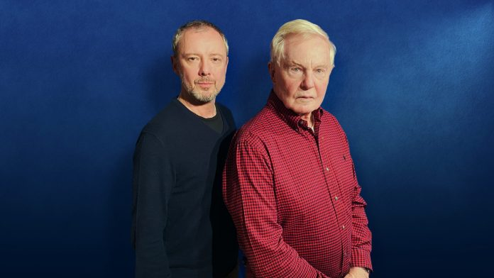 John Simm and Derek Jacobi at the recording of Masterful (c) Big Finish Productions Doctor Who The Master