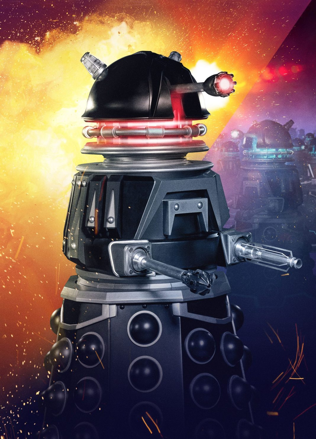One of the Dalek defence drones in Revolution of the Daleks (C) BBC Studios - Photographer: Ben Blackall Doctor Who