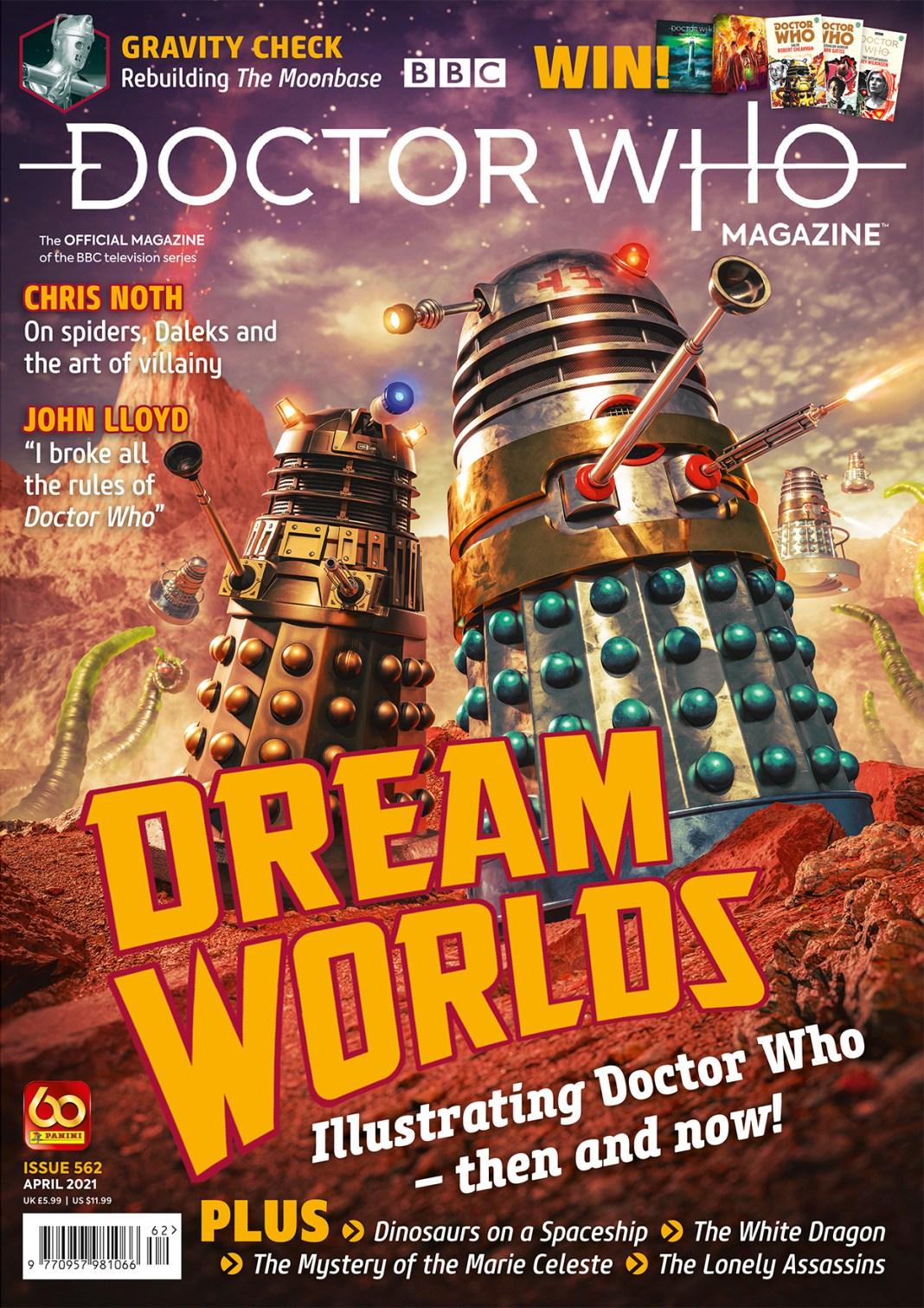 Doctor Who Magazine 562. Cover by Anthony Lamb (c) Panini Daleks Dalek Book Doctor Who art